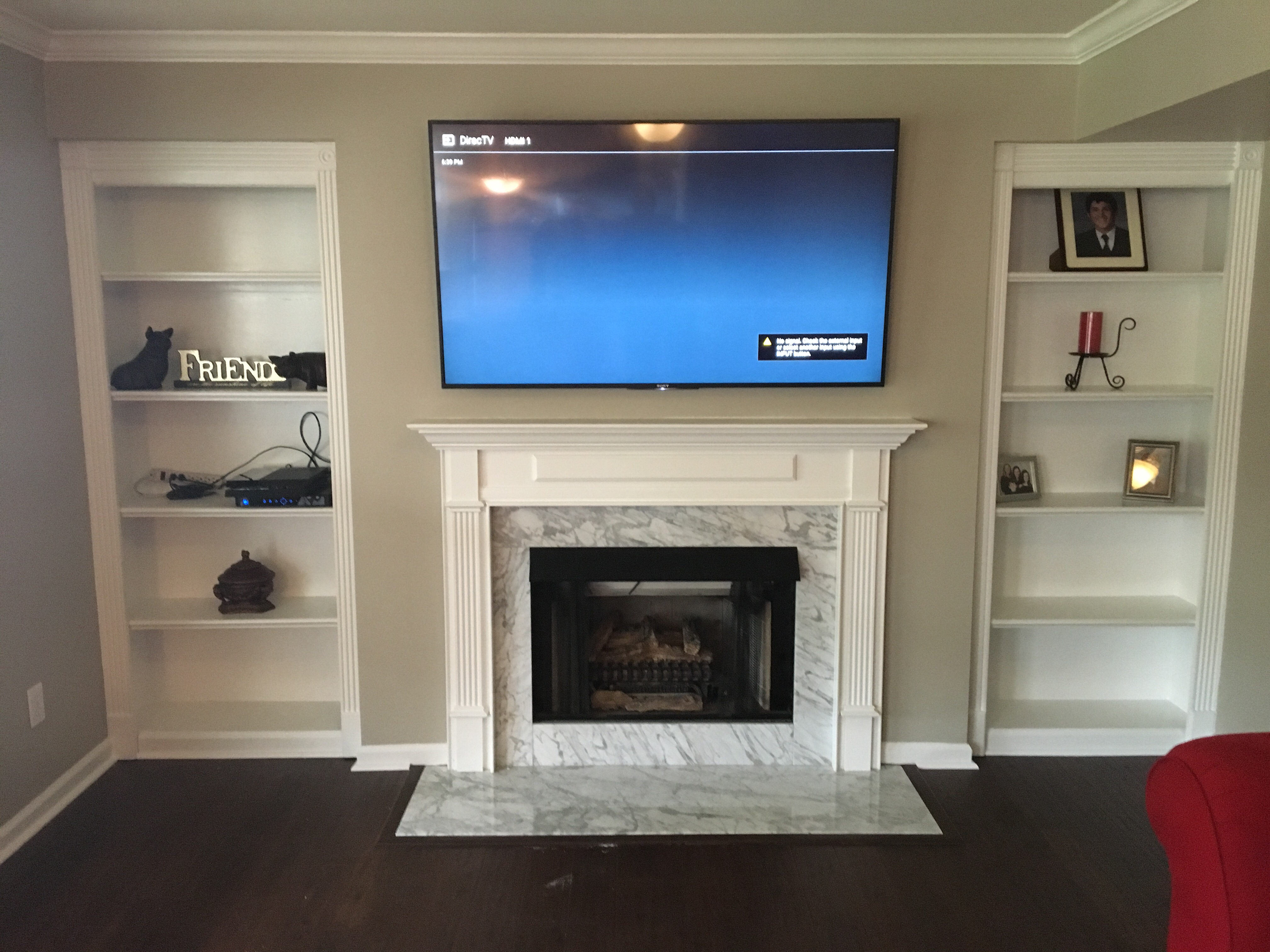 Professionally Installed TV over a Fireplace • Lexington Kentucky