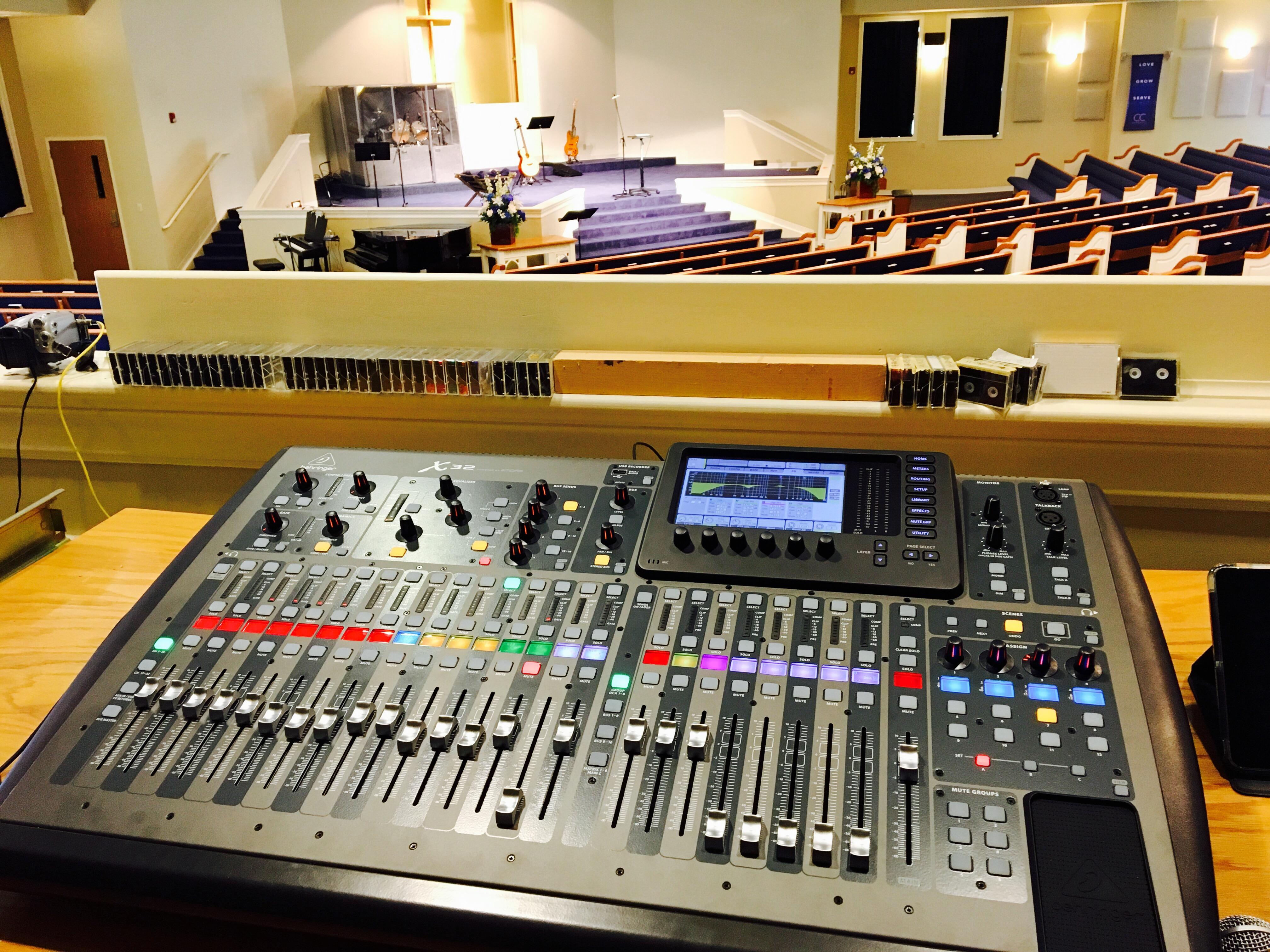 Behringer X32 Digital Sound Board Installation at Community Christian Church • London, Kentucky