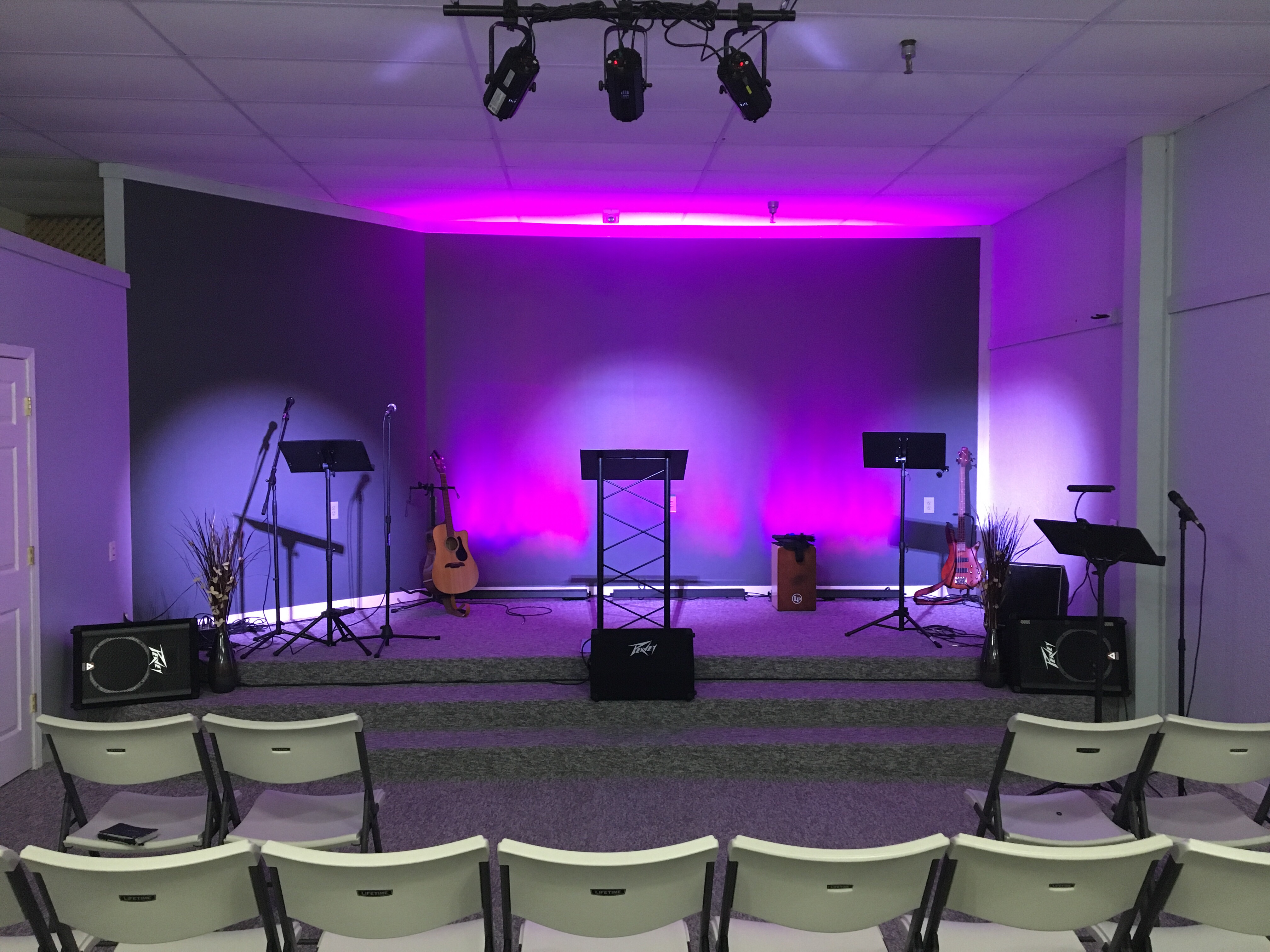 Stage Lighting Installation at Grace Community Church in ...